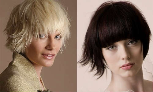 Layered haircuts for short hair
