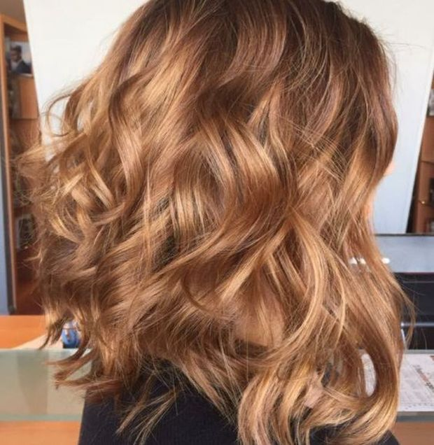 Fashion hair color 2019 caramel