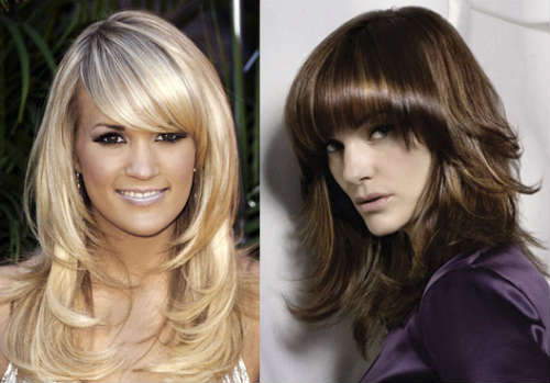 Fringed layered haircuts