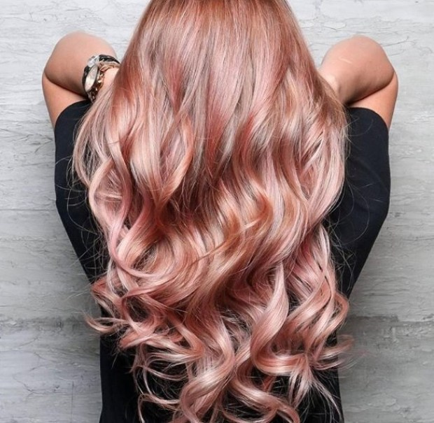 Hair colors 2019 gold rose