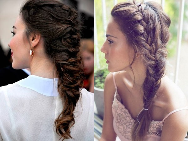 Evening hairstyles with french braids