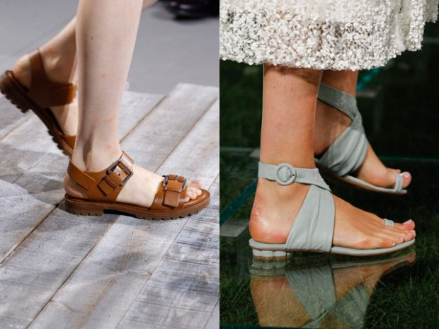 Comfy leather sandals