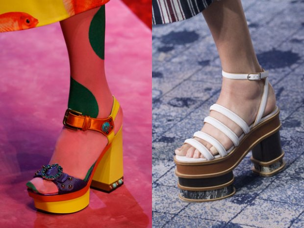 Sandals 2019 with platforms and heel