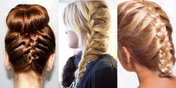 French braid hairstyle for long hair