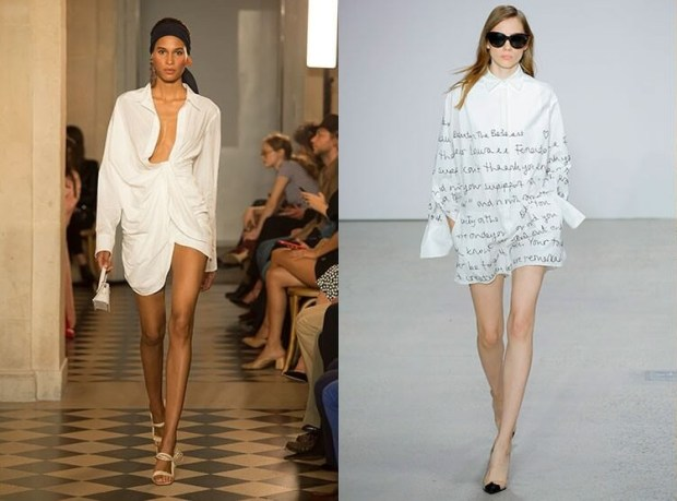 White shirt-dress spring-summer 2019