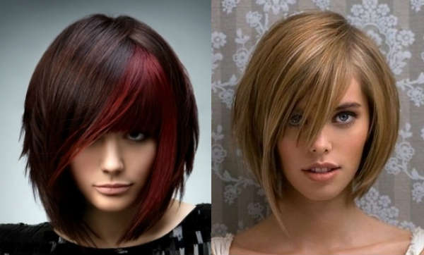 Haircuts for medium length hair with long bangs