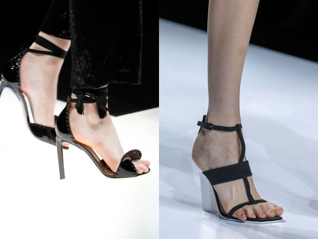 Black evening heeled sandals