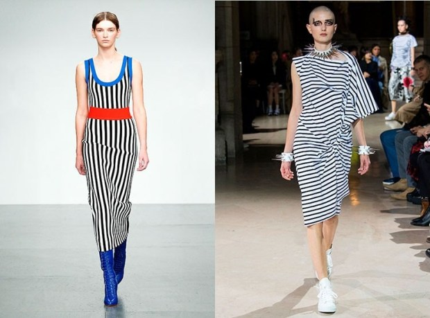 midi with stripes