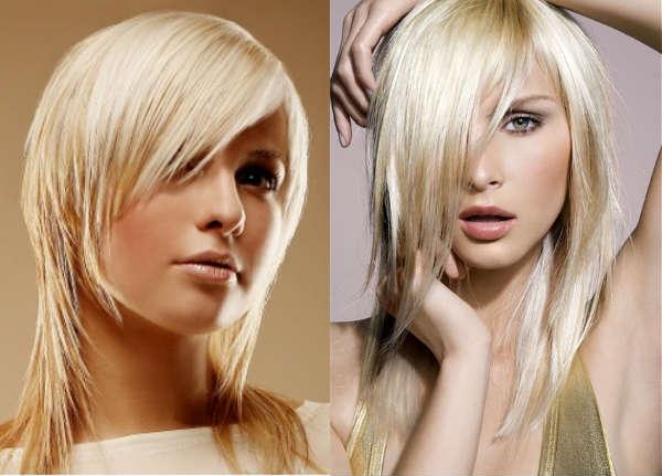 Haircuts for medium length hair with long asymmetric bangs