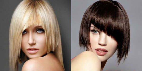 Haircut with long bangs ladies