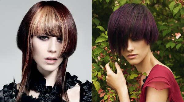 Creative haircuts with long asymmetric bangs