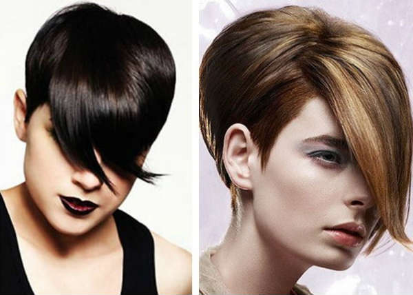 Haircuts with bangs for short hair