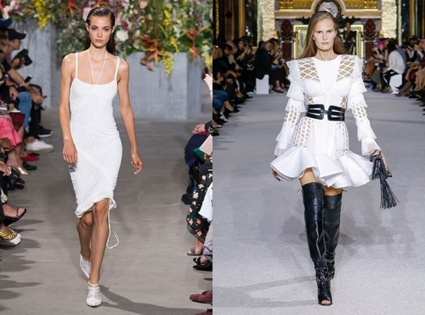 White dresses spring-summer 2019