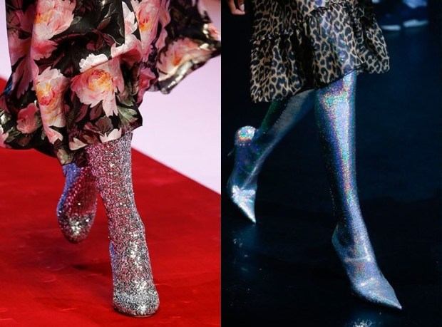 Glittering spring boots 2019