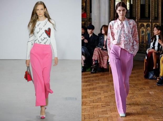 Women pink pants 2019