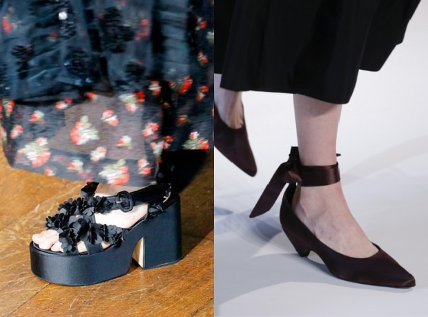 Summer footwear with comfortable heel