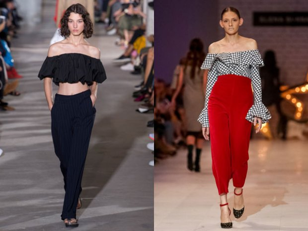 Summer blouses 2021 with bare shoulders