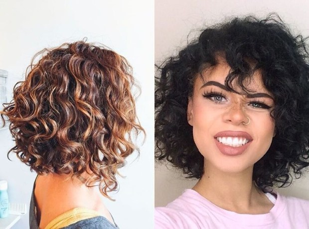 Harcuts for medium lenght curly hair 2019