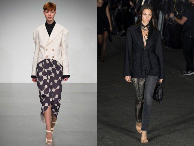 Asymmetric blazers spring summer 2019