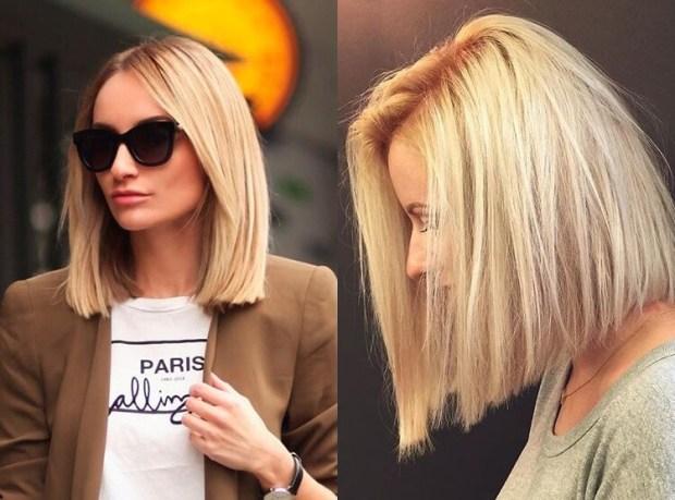 Medium length bob for blonde hair