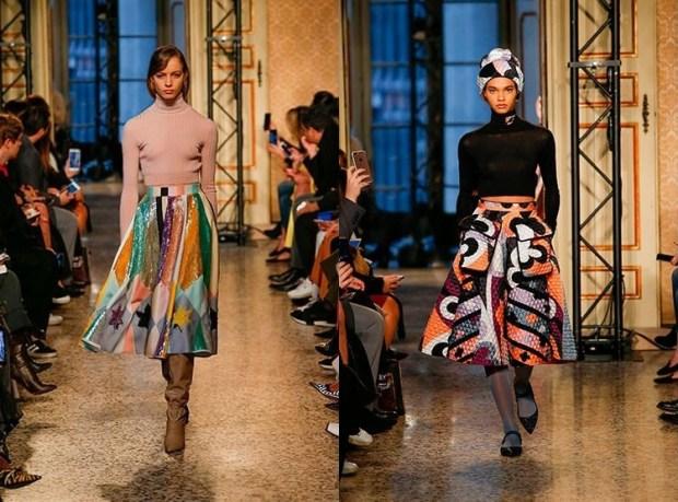 knee length fashion print