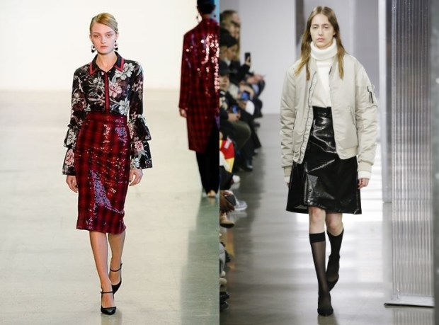 Office skirts 2020 patent leather