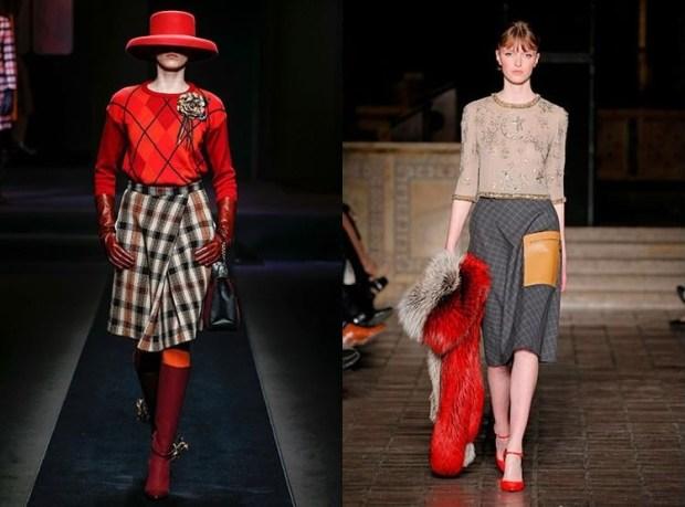 Plaid skirts fall winter 2019 2020