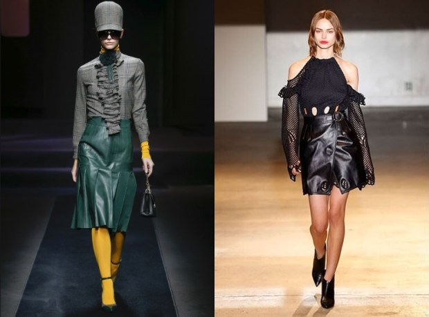 Trendy leather skirts fall winter 2019 2020