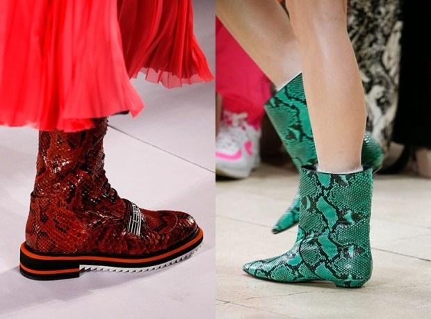 Snake print footwear