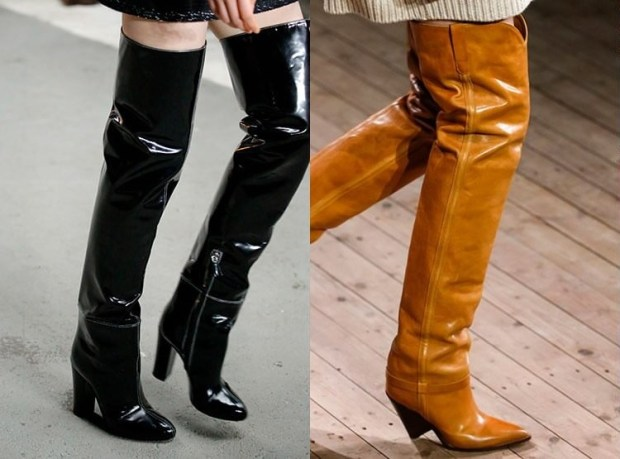 High leather boots winter 2020