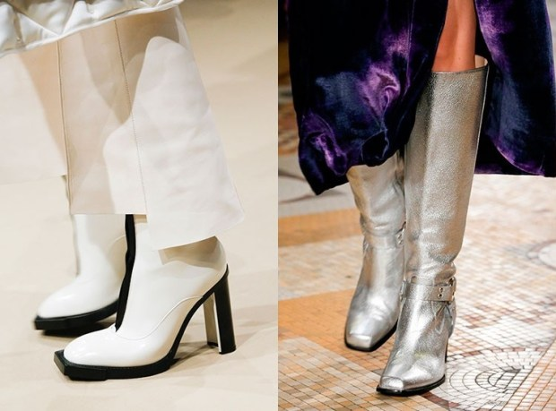 Fall 2019 winter 2020 boots with squared toe