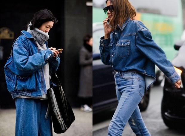 Street style fashion 2019 2020: denim