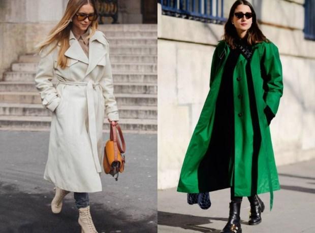 Trendy trench coats street style