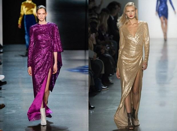 Evening dresses fall winter 2019 2020 glitter