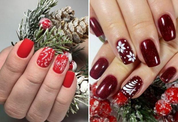 Holiday nail art design 2020 color