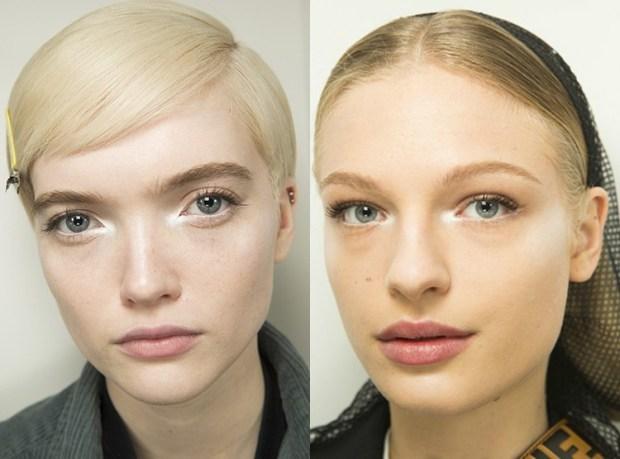 White eyeshadows makeup
