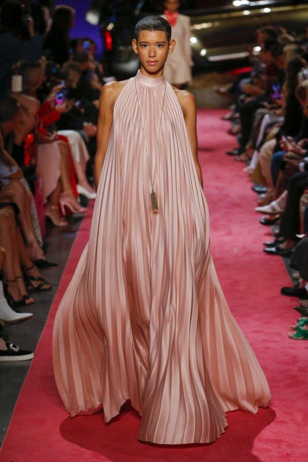 Long pleated dress 2020