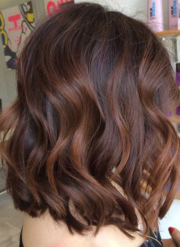 Cinnamon medium length hair