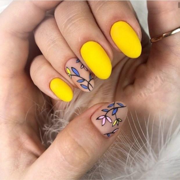Nail designs 2020 yellow