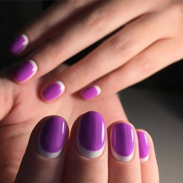 Half moon nail design
