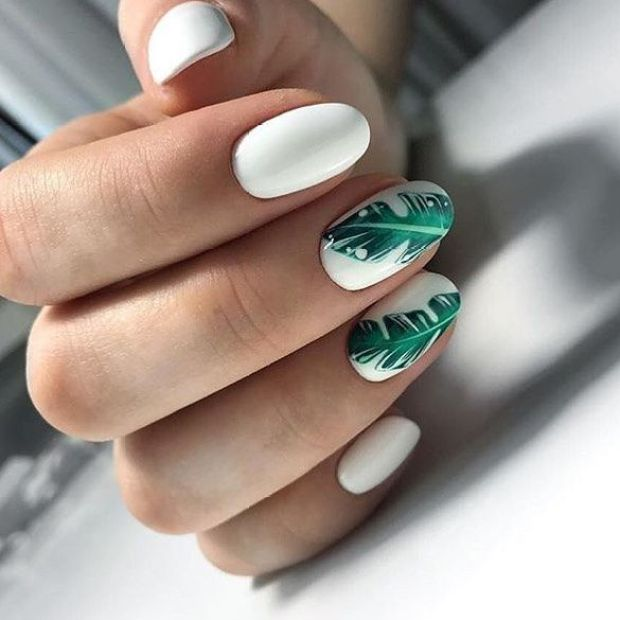 White oval nails