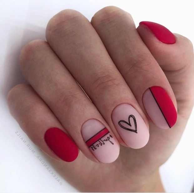Oval shaped nails