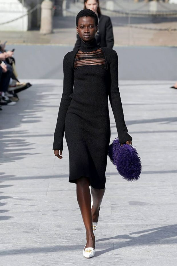 Black turtleneck dress winter 2021