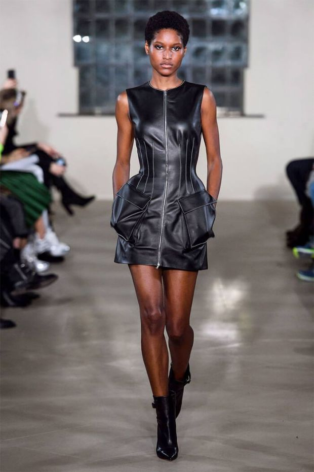 Mini leather dress 2020 2021