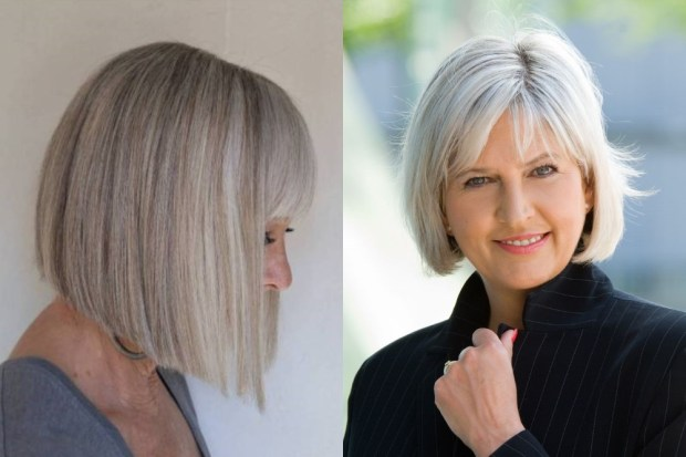 Straight bob for women over 50