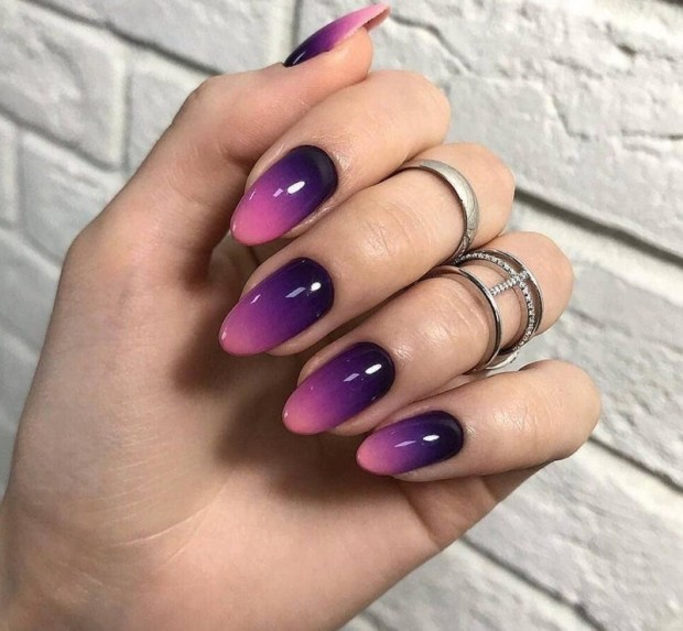 Fall almond shaped nails designs