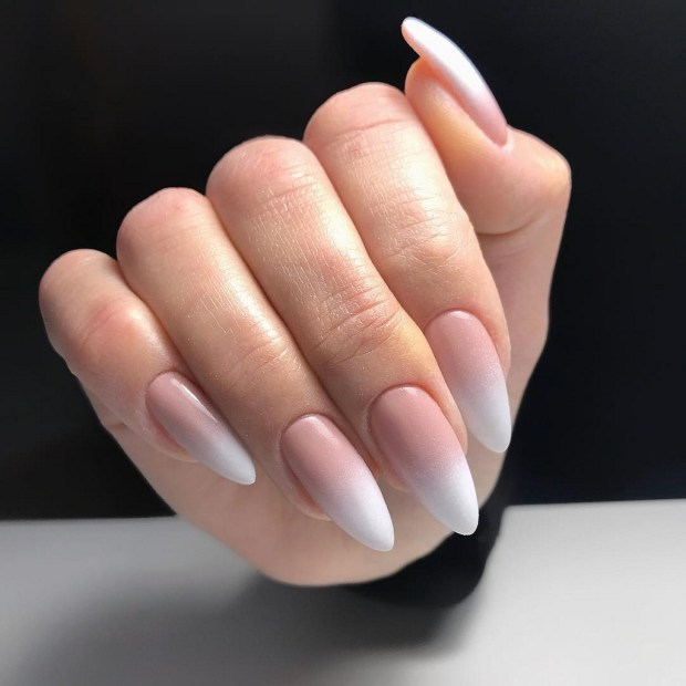 light color ombre nails