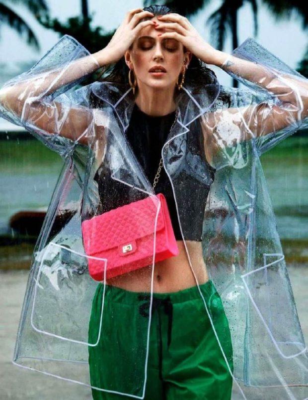 Fall rain trench coats