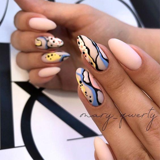 Nails drawing spring summer 2021