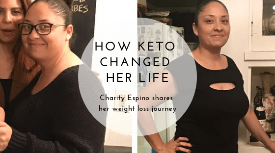 Before and After photo woman keto diet